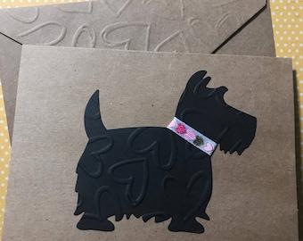 Scottie Card, Dog Cards, Scottish Terrier Card, Cards for Dog Lovers, Vet Note Card, Veterinarian Blank Dog Note Card & Envelope