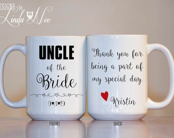 Uncle of the Bride Mug, Uncle of the Bride Gift, Uncle of the Bride, Personalized Uncle Wedding Mug, Aunt and Uncle Wedding Gifts Mug MPH411