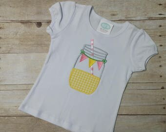 Mason Jar of Lemonade Shirt or Bodysuit ~ Personalized For You