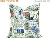 15% Off Sale Decorative Pillow, Bird Pillow Vintage Decor Pillow Covers 24x24 Euro Pillow Covers Euro Pillow Shams 26x26 pillow cover Shabby
