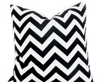15% Off Sale Black Pillow - Pillow Covers - Decorative Pillows - Black and White - Chevron - Euro Pillow - Cushion Covers - Bedding  - Home