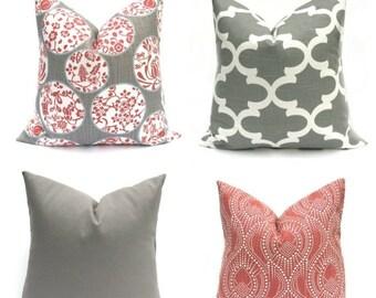 15% Off Sale Pillow Cover , Gray Pillow  Gray Pillow Cover  Throw pillow Cover Burgundy Pillow, Pillows,  Decorative pillow, Toss Pillow, Ac