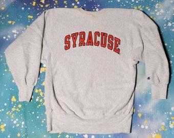 SYRACUSE  Reverse Weave CHAMPION Sweatshirt Size L