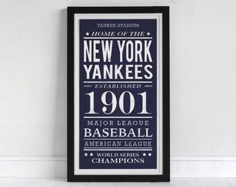 New York Yankees - Screen Printed Poster