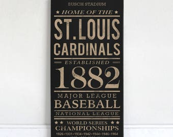 St. Louis Cardinals - Wood Sign