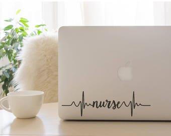 Nurse Heartbeat Decal, Nurse Decal, Car Decal, Laptop Decal, Nurse, Nurse Heartbeat