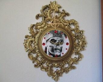 """OOAK Ghost Papa Emeritus II """"Monstrance"""" clock, works!! Ghost band, Ghost BC, ghoul"""