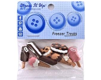 Jesse James Dress It Up Freezer Treats Popsicles Ice Cream Bars Novelty Buttons