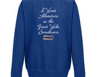 I Want Adventure UNISEX JUMPER - Gifts for Bookworms - Gifts for Her