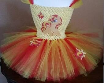 Sunset Shimmer or any My Little Pony Costume Flower Girl Tutu Dress