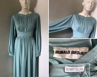 Vintage goddess dress Metallic real body con Bonwit Teller Donald Brooks fair skin redhead dream