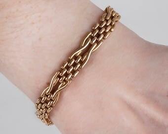 Vintage Bracelet - Vintage 15k Rose Gold Link Bracelet