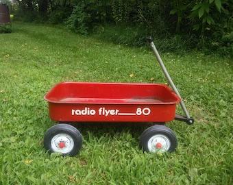 Vintage Radio Flyer Wagon - Radio Flyer Wagon - Radio Flyer 80 Wagon - Little Red Wagon - Red Wagon - Wagon