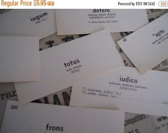 ON SALE 25% OFF 50 Vintage Flash Cards 1950s Latin Vocabulary Word Flash Cards