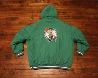 Boston Celtics winter jacket NBA basketball coat reebok 2XL XXL