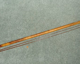 Old or Antique Tenkara Japanese Fly Fishing Bamboo Rod, Two Tips, Unrestored State As Is