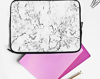 Marble Laptop case - Minimal marble, marble laptop case, marble print case, large laptop case, minimal style marble, blogger fashion marble