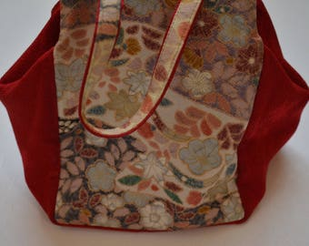 Soft fabric handbag, Japanese purse, hand crafted