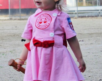 Rockford Peach Costume for Dress Up, A league Of Their Own Costume, Baseball Dress,