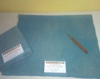 New Light Blue - Wool Fabric - Fat Quarter - Rug Hooking Wool - Rug Making - Rug Supplies - Doll Making