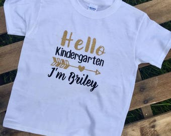 Back to School shirt // kindergarten shirt // kids shirt // school shirt // back to school gift // teacher shirt