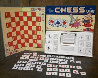 Chess for Juniors by Sel-Right 1960s.  great graphics!