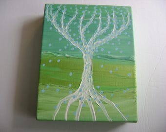 Enchanted - Original Acrylic Painting - Stretched Gallery Canvas - 7 x 9