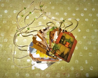 Gift Tags Upcycled Tags Favor Tags Price Tags Handmade Tags Set of 12