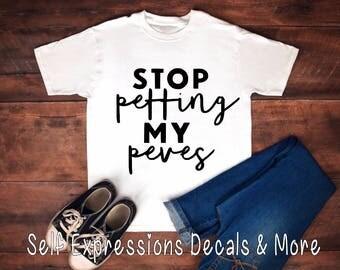 Stop Petting my Peeves // Ladies T Tank Hoodie