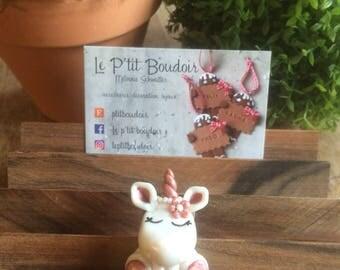 """broche licorne """"lady pearl"""""""