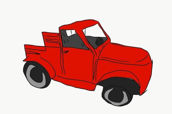 Custom Wooden Truck Prop