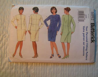 Butterick Pattern 6092 your personal fitting Women Fitting Shell and Dress