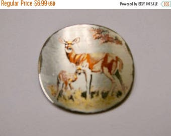 On Sale REED and BARTON Damascene Mother's Day Deer Pin Item K # 2443