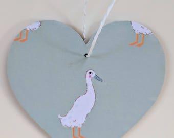 Hanging Heart in Sophie Allport Runner Duck