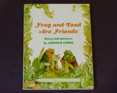 Frog and Toad Are Friends - Arnold Lobel - Children's Softcover Book - Scholastic Books 1990's - Vintage Illustrated Book