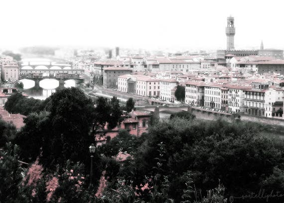 Summer in Florence - Florence, Tuscany, Italy - Travel Photography Print Pastel Terracotta Home Decor Architecture City Landscape Wall Art