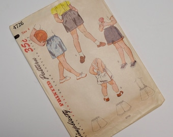 1940s boys shorts and suspenders pattern: simplicity 4726, size 4 / waist 21 / length 10.5 inches