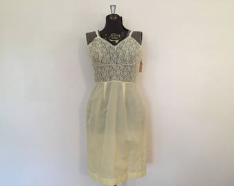 Vintage Yellow Slip / Med/Large/XL / Fitted Slip