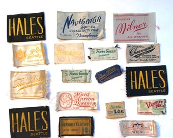 Clothing Labels - 1950s and 1960s