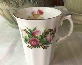 Scottish Thistle Fine Bone China by Royal Grafton made in England