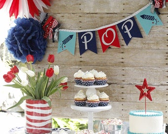 4th of JULY BANNER /  4th of July decor / Patriotic banner / Patriotic decor / USA banner. Fourth of July banner. Fourth of July decorations
