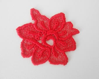 Flower red lace 5.5 CMS for your creations