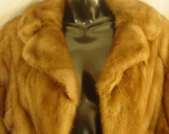 Perfect Vintage Mink Fur Coat Jacket from 1950's Christmas Present Wedding Party