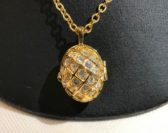 Joan Rivers Honeycomb Egg Locket With Bee Inside (Vintage)