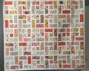 Pink/Gray/Yellow Quilt