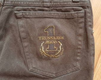 Trussardi Jeans Denim Daisy Dukes Size 30 Brown Shorts High waisted shorts Nr. 22