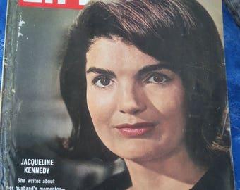 Life Magazine, vintage Life Magazine . Jacqueline Kennedy ( 1964 ) John f Kennedy mementos