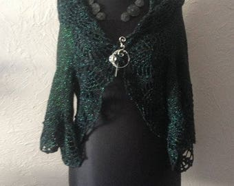 Sweater bolero knitting and crochet handmade