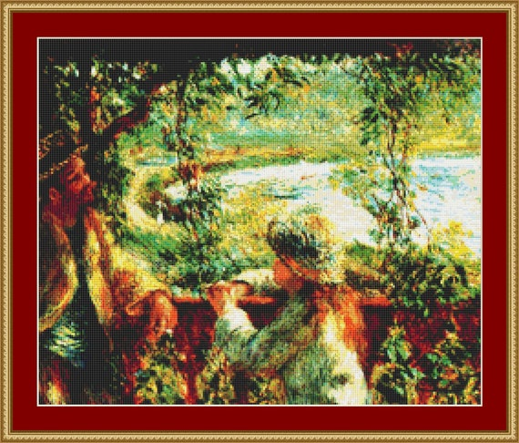 By The Lake Cross Stitch Pattern /Digital PDF Files /Instant downloadable