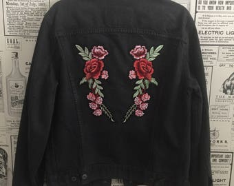 Levi's Dip-Dyed Floral Patch Jacket